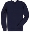 Navy Fine Merino Crew Neck Jumper Top 7c Sunspel