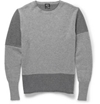 Mcq Alexander Mcqueen Panelled Wool And Cashmere Blend Sweater