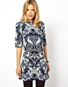 Asos Asos Shift Dress In 60'S Paisley Print At Asos