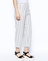 Asos Asos Slouch Peg Trousers In Stripe At Asos