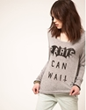 Zoe Karssen 7c Zoe Karssen Paris Can Wait Tee with Long Sleeve at ASOS