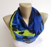 Women Fashion Infinity Scarf Ivy Chiffon Fabric By Senoaccessory