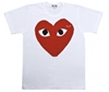 DSM E SHOP 3a Red Play T Shirt White