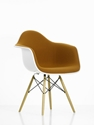 Rockett St George Vitra Collection White Cognac Upholstered Plastic Armchair With Wood Base At Coggles