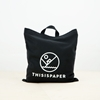 Logo Shopper Bag Black 2f Thisispaper Shop