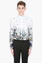 McQ Alexander McQueen White Oversized Floral Button down Shirt for men 7c SSENSE