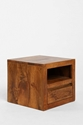 Wooden Cube Side Table Urban Outfitters
