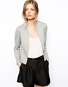 Asos Asos Blazer In Ponte With Peplum At Asos