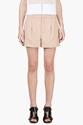 Chloe Rose Wool Pleated Shorts For Women Ssense