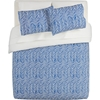Blue Chevron Bed Linens Cb2