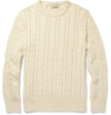 Maison Kitsun c3 a9 c2 a0Cable Knit Cotton Sweater c2 a0 7c c2 a0MR PORTER