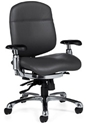 Global Shadow Leather Ergonomic Chair 2711L Office Chairs By Global