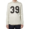 A.P.C. Vintage Usa Football Sweater Ecru Melange