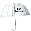 Fo 27 Drizzle Funny Transparent Dome Style Umbrella by meandmy3boys