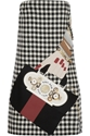 Holly Fulton Appliqued Houndstooth Wool Mini Dress Net A Porter.Com