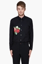 Comme Des Gar c3 a7ons Homme Plus Black Flower Pattern Shirt for Men 7c SSENSE