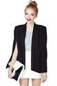 Champagne Taste Cape Blazer Black Shop Jackets Coats At Nasty Gal
