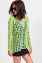 Lime Crochet Top Koshka Fashion Trends Boutique