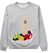 Carven Mottled Grey Still Life Molleton Sweater Hypebeast Store
