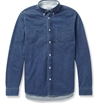 Acne Studios Isherwood Button Down Collar Denim Shirt Mr Porter