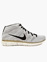Nike Men's Grey Flyknit Free 4.0 Sneakers Oki Ni
