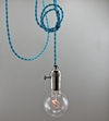 Bright Blue Modern Bare Bulb Pendant Light Simple by scandalaskan