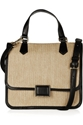 Marc by Marc Jacobs c2 a0 7c c2 a0Faux leather trimmed straw shoulder bag c2 a0 7c c2 a0NET A PORTER COM