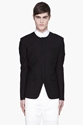 JUUN J Black Collarless Blazer for men 7c SSENSE