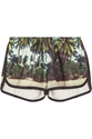 Finds All Things Fabulous Bahia Printed Cotton Blend Terry Shorts Net A Porter.Com