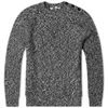Carven Cable Crew Knit Black White