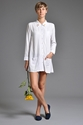 Handsom Leo Shirt Dress White 7c someplace