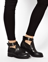 Asos Asos Ascot Leather Cut Out Ankle Boots At Asos