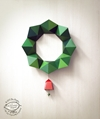Sale Diy Paper Christmas Wreath Decor Geometric By Skygoodies