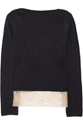 Valentino c2 a0 7c c2 a0Lace trimmed stretch cotton sweater c2 a0 7c c2 a0NET A PORTER COM