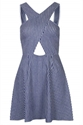 Wrap Front Striped Denim Dress View All Sale Sale Offers Topshop Usa