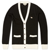 Maison Kitsune Classic Tipped Cardigan Black Cream