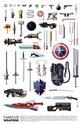 Famous Weapons Art Print by Daniel Nyari 7c Society6
