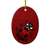 Ladybug Art Ornament Bug Keepsake Ladybug Gifts Christmas Gift Ideas
