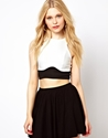 River Island River Island Panelled Crop Top At Asos