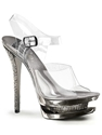 Pleaser Sexy Chrome Rhinestone Dual Platform Sandal 7c Shopsearches com
