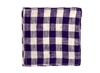 Linen Coaster Purple White Check 7c Orange and Brown