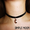 Crescent Moon Black Stretchy Velvet Choker By Meowismful On Etsy