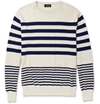 A P C c2 a0Striped Cotton Sweater c2 a0 7c c2 a0MR PORTER
