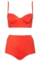 Red Basic Longline Bikini Topshop Usa