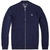 Fred Perry Quilted Marl Bomber Carbon Blue