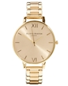 Olivia Burton Olivia Burton Big Dial Gold Bracelet Watch At Asos