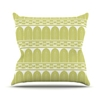 Amazon.Com Kess Inhouse Nandita Singh Tribal Green Pattern Outdoor Throw Pillow 16 By 16 Inch Patio Lawn Garden