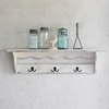 Farmhouse Shelf with Hooks Large Shelf country white by SummerRoad