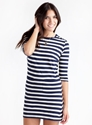 Pop Breton Dress Navy White