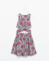 Printed Crossover Dress Dresses Trafaluc Zara United States